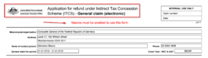 Malicious macro-enabled Excel imitating ATO (ITCS)